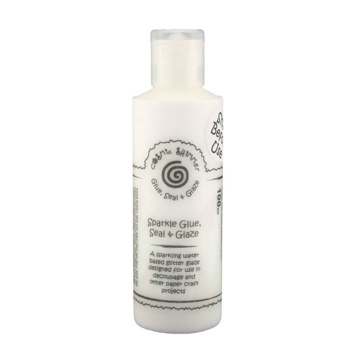 Cosmic Shimmer SPARKLE Glue, Seal & Glaze for Decoupage & Paper Crafts 100ml