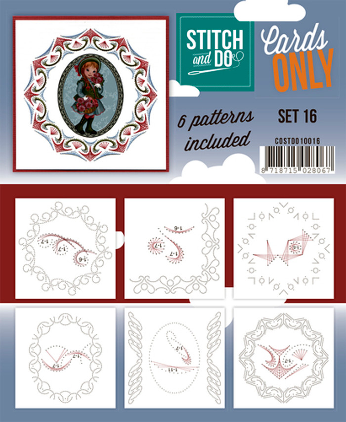 Stitch and Do Card Stitching Cardlayers Only - Set 16