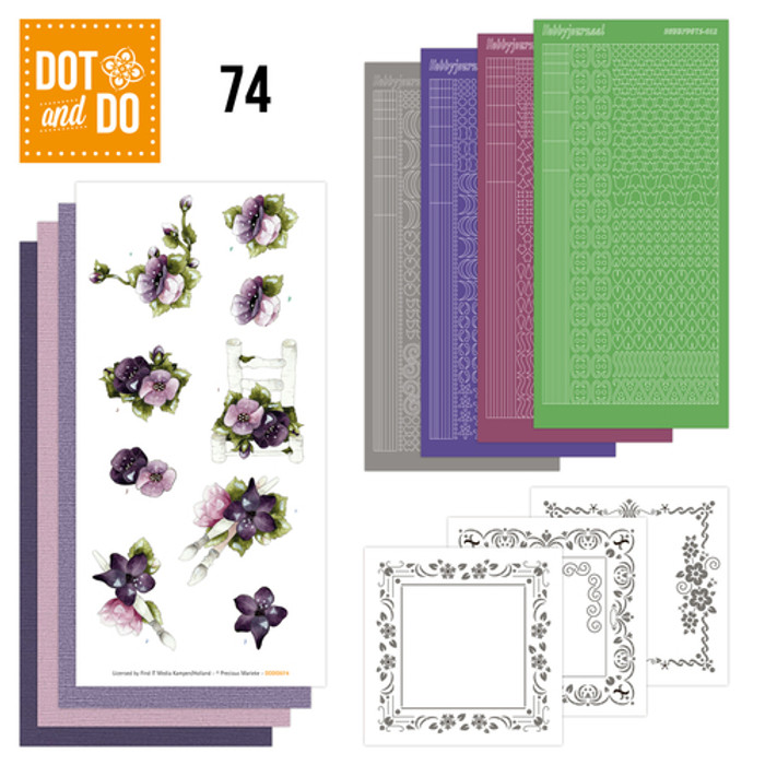 Dot and Do Kit #74 - Purple Flowers