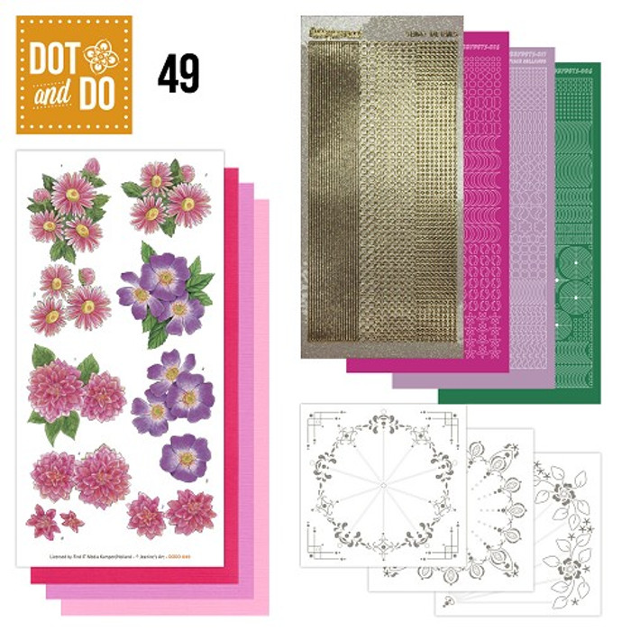 Dot and Do Kit #49 - Pink Flowers