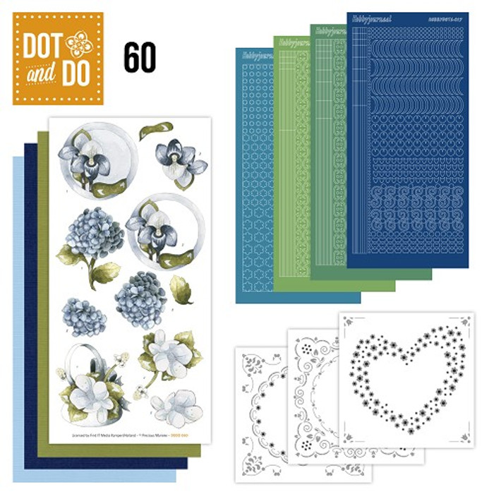 Dot and Do Kit #60 - Blue Flowers