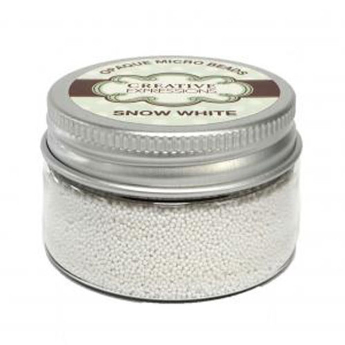 Cosmic Shimmer Opaque Micro Beads - SNOW WHITE 30G