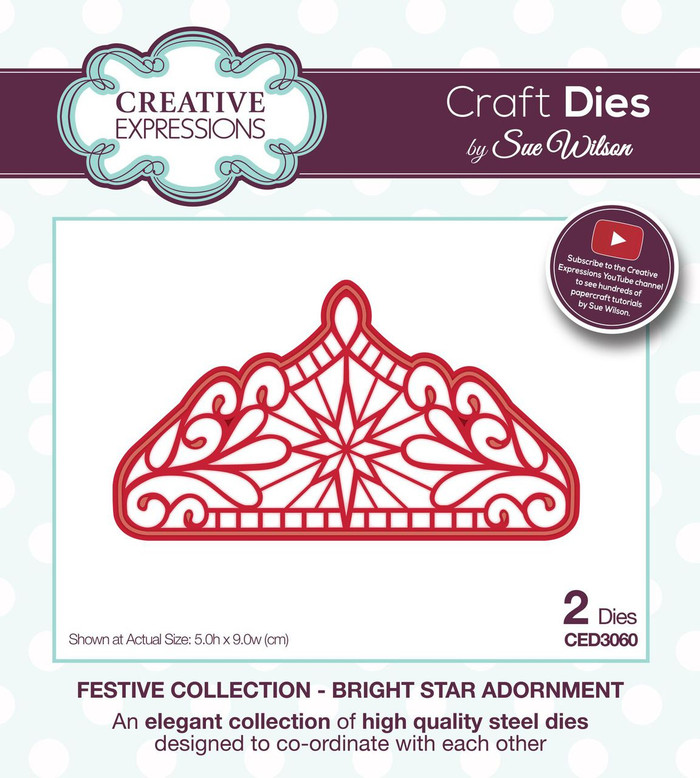 Sue Wilson - The Festive Collection - Bright Star Adornment CED3060 - Pre-Order 15% Off
