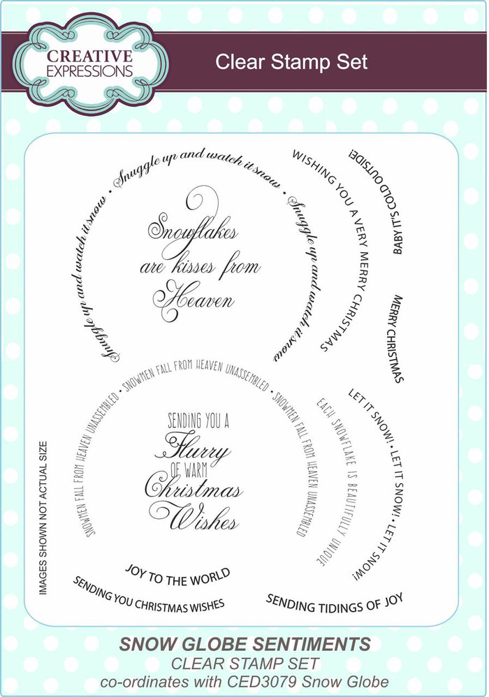 Creative Expressions Clear Stamp Set - Snow Globe Sentiments CEC773 - Pre-Order 15% Off