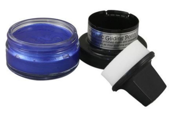 Cosmic Shimmer Metallic Gilding Polish 50ml Pot - MEDITERRANEAN BLUE