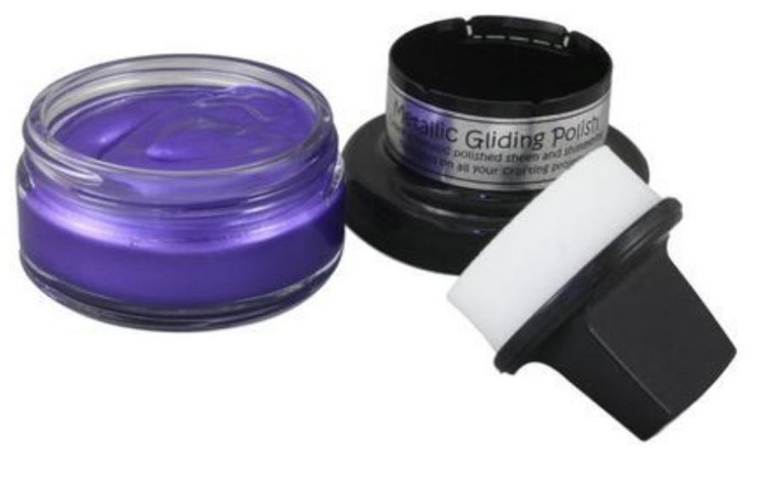 Cosmic Shimmer Metallic Gilding Polish 50ml Pot - PURPLE MIST