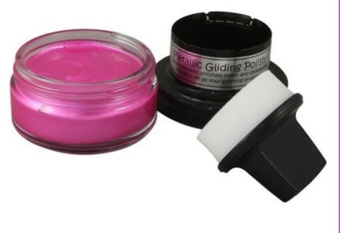 Cosmic Shimmer Metallic Gilding Polish 50ml Pot - INDIAN PINK