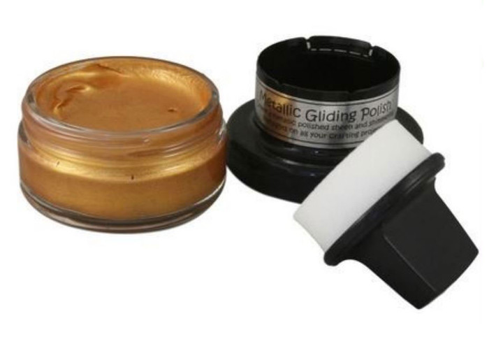 Cosmic Shimmer Metallic Gilding Polish 50ml Pot - GOLD TREASURE