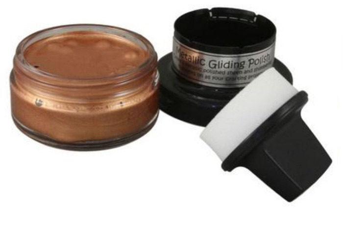 Cosmic Shimmer Metallic Gilding Polish 50ml Pot - COPPER SHINE
