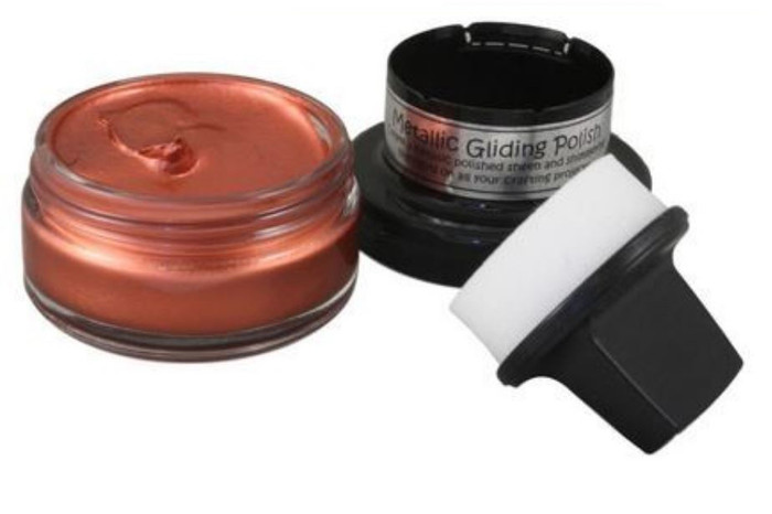 Cosmic Shimmer Metallic Gilding Polish 50ml Pot - RED BRONZE