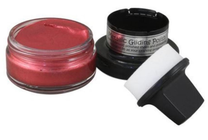Cosmic Shimmer Metallic Gilding Polish 50ml Pot - RICH RED