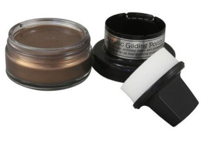 Cosmic Shimmer Metallic Gilding Polish 50ml Pot - CHOCOLATE BRONZE