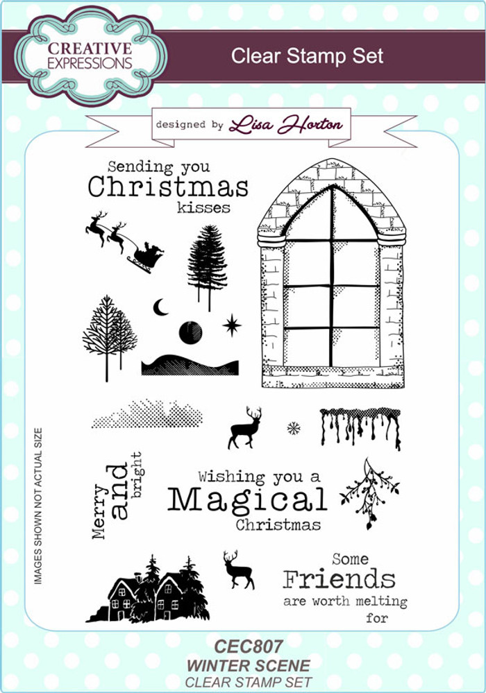 Creative Expressions Winter Scene Clear Stamp Set by Lisa Horton CEC807 - Pre-Order 15% Off