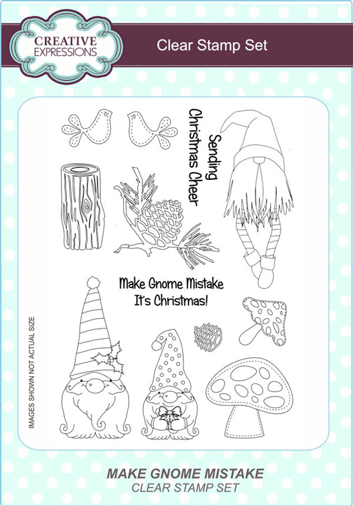 Creative Expressions Make Gnome Mistake A5 Clear Stamp Set by Lisa Horton CEC791 - Pre-Order 15% Off