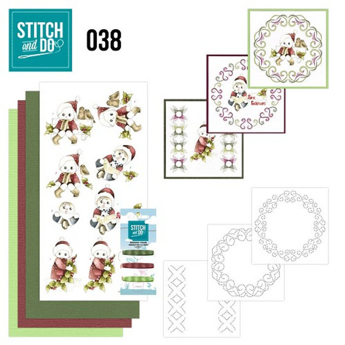 Stitch and Do 38 - Card Embroidery Kit - Christmas Kids