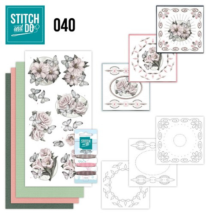 Stitch and Do 40 - Card Embroidery Kit - Condolence