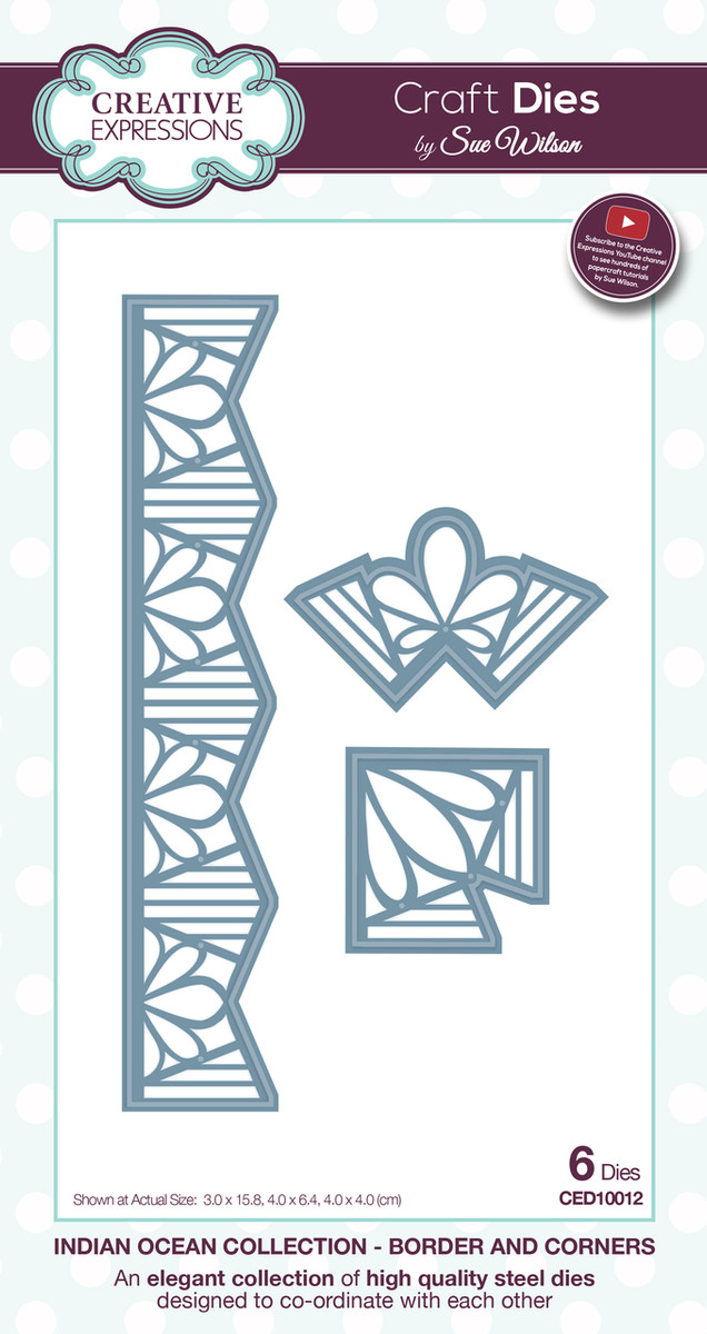 Sue Wilson Indian Ocean Collection - Borders and Corners Die CED10012 - Pre-Order 15% Off