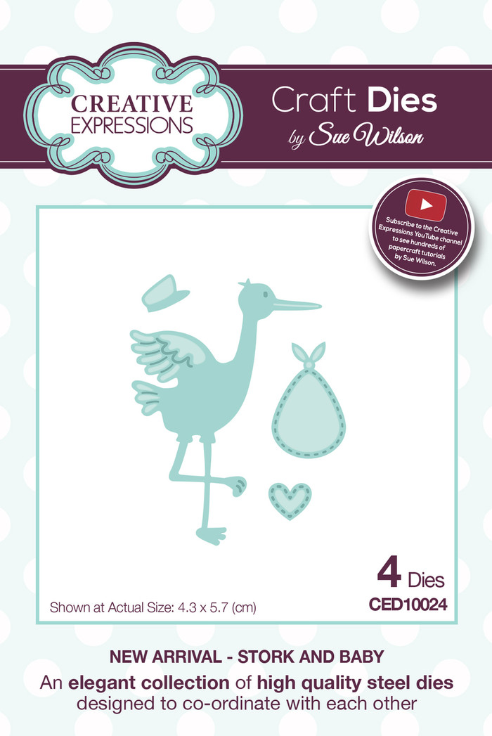 Sue Wilson - New Arrival Collection - Stork and Baby Dies CED10023 - 15% Off