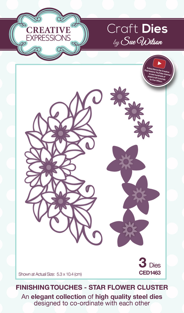 Sue Wilson Finishing Touches Star Flower Cluster Dies CED1463 - 15% Off Pre-Order