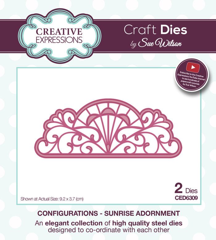 Sue Wilson - Configurations Collection - Sunrise Adornment Die CED6309 - Pre-Order 15% Off