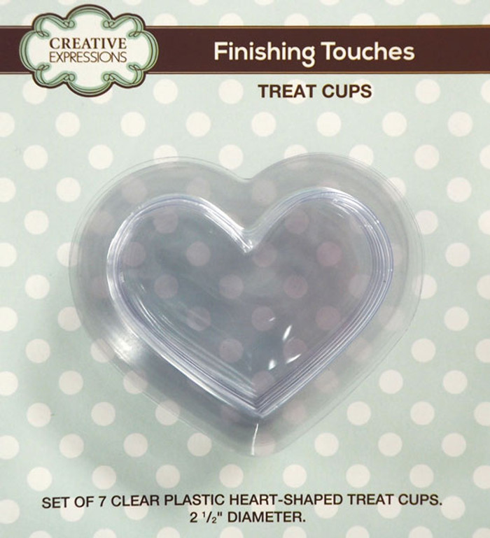Sue Wilson Finishing Touches HEART Treat Cups Set of 7 CETREATHEART - 15% Off Pre-Order