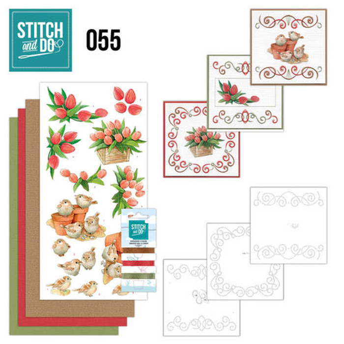 Stitch and Do 55 - Card Embroidery Kit - Garden Classics