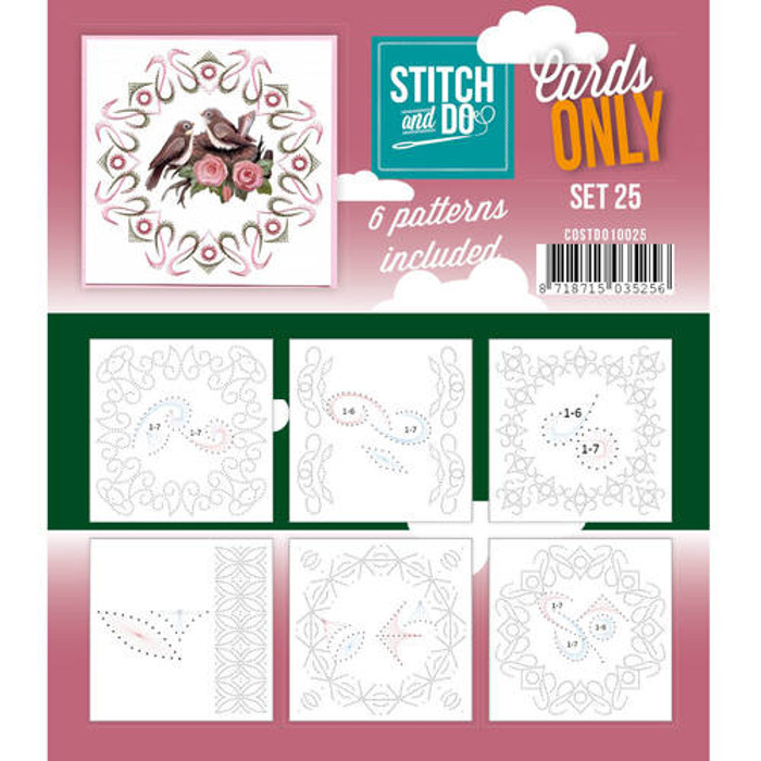 Stitch and Do Card Stitching Cardlayers Only - Set 25