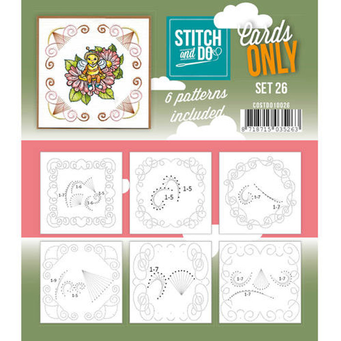 Stitch and Do Card Stitching Cardlayers Only - Set 26