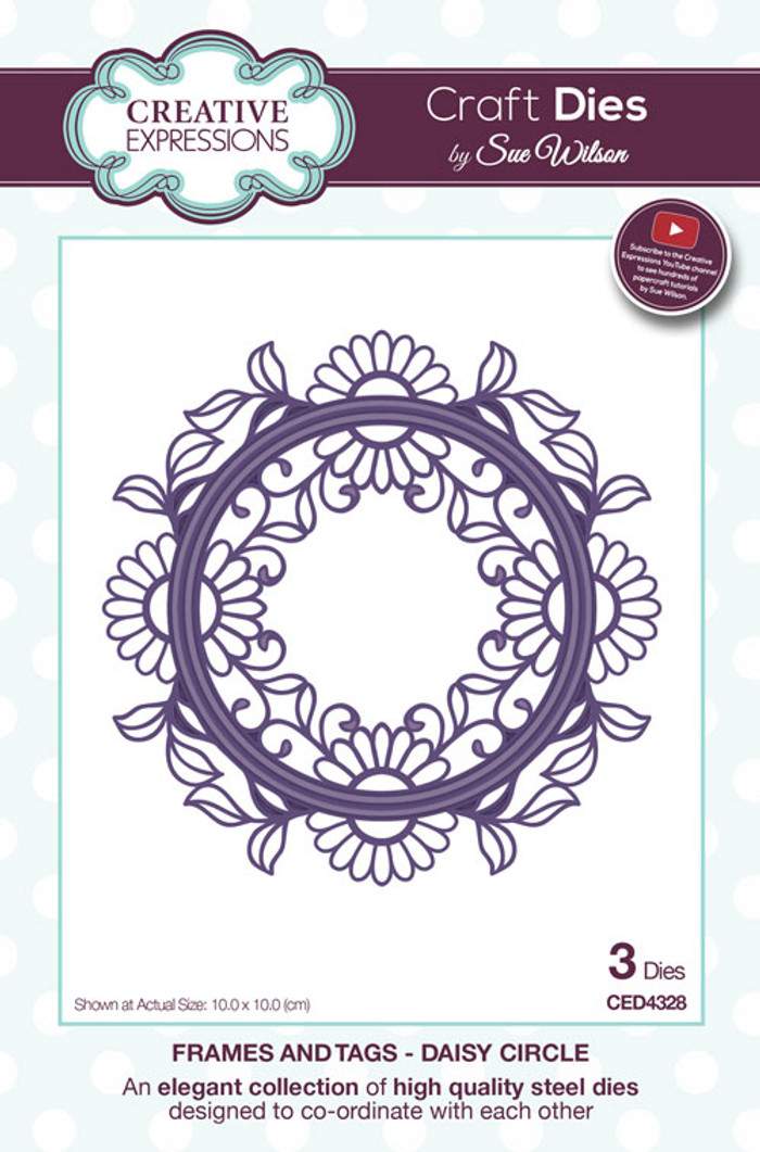 Sue Wilson Frames & Tags Collection Dies - Daisy Circle CED4328