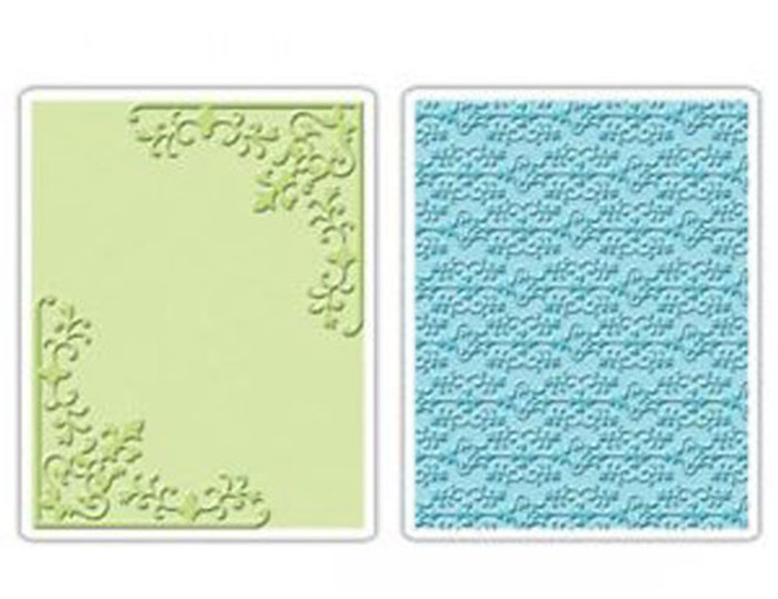Sizzix embossing folder - Corners & Damask Set