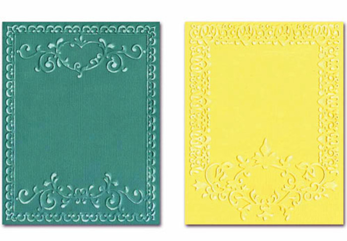 Sizzix Textured Impressions Embossing Folder 2 Pack - ORNATE FRAMES SET