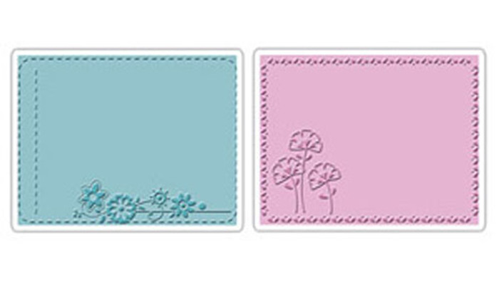Sizzix Textured Impressions Embossing Folder 2 Pack - GARDEN FLOWERS SET