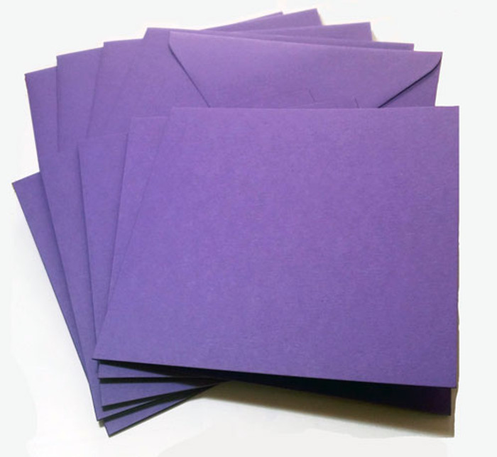A7 Envelopes -  130mm x 185mm - Premium LAVENDER 20Pk 120gsm