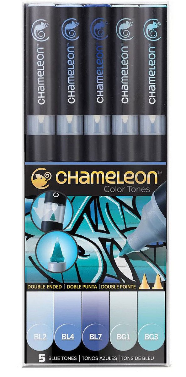 Chameleon 5-Pen Blue Tones Set