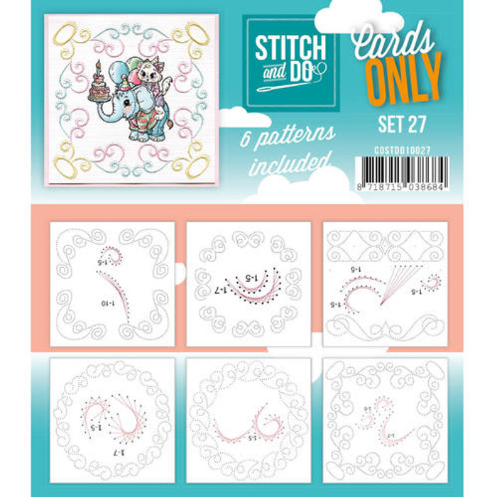 Stitch and Do Card Stitching Cardlayers Only - Set 27