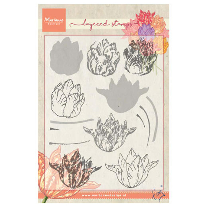 Marianne Design Layering Clear Stamps - Tiny's Tulip TC0852