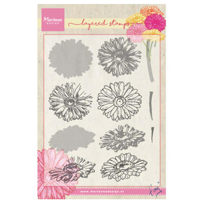 Marianne Design Layering Clear Stamps - Tiny's Gerbera TC0853