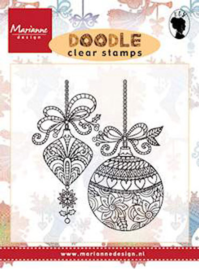 Marianne Design Clear Stamp - Doodle Christmas Decoration EWS2221
