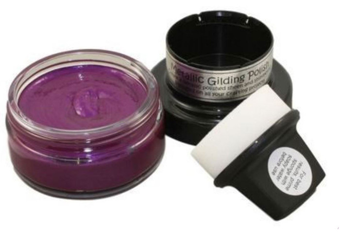 Cosmic Shimmer Metallic Gilding Polish 50ml Pot - DARK CHERRY