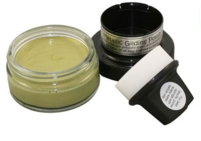Cosmic Shimmer Metallic Gilding Polish 50ml Pot - GOLDEN OLIVE