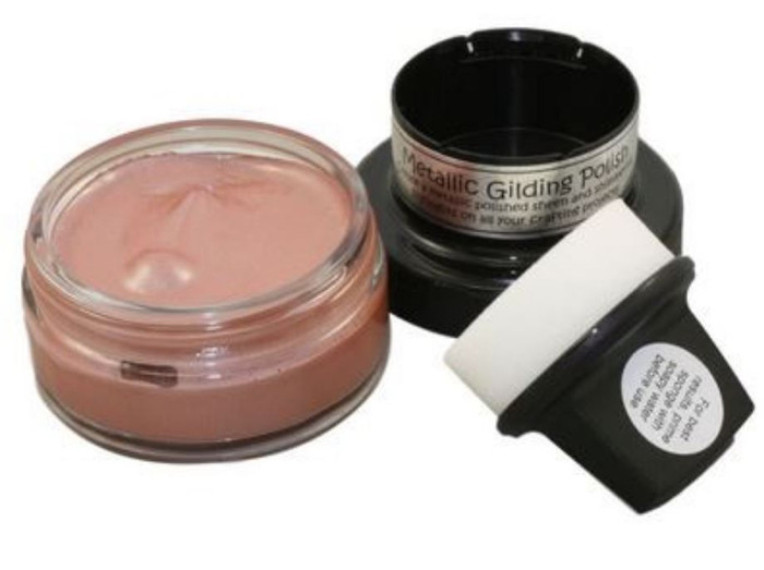 Cosmic Shimmer Metallic Gilding Polish 50ml Pot - SILVER HESSIAN
