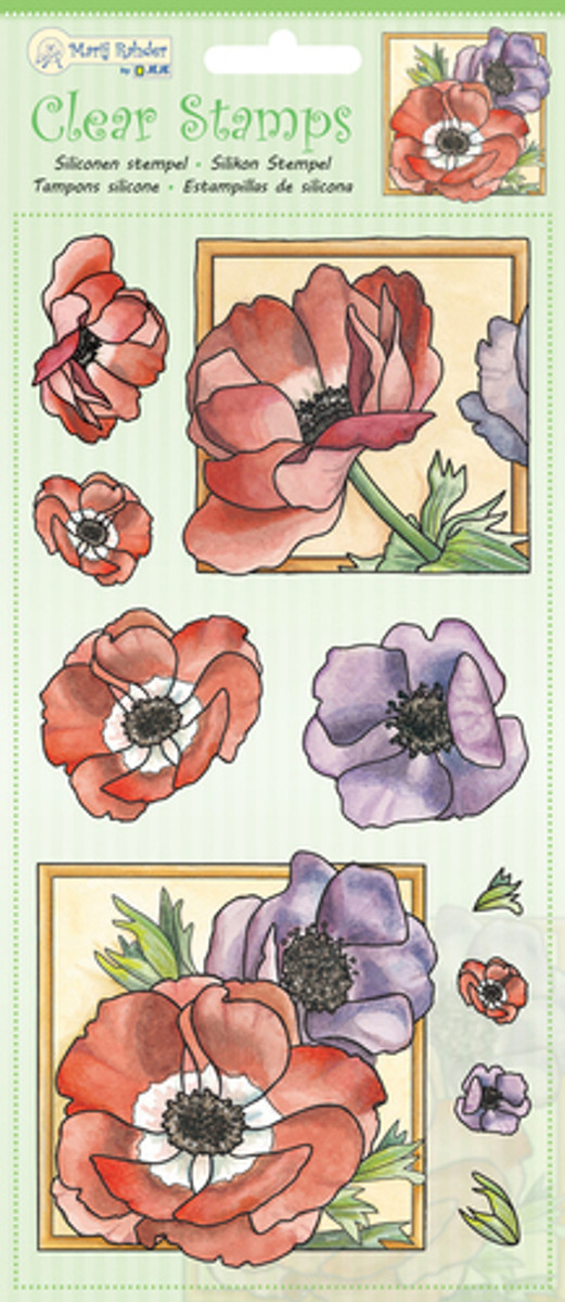 Marij Rahder Clear Stamps - Poppy 9.0049