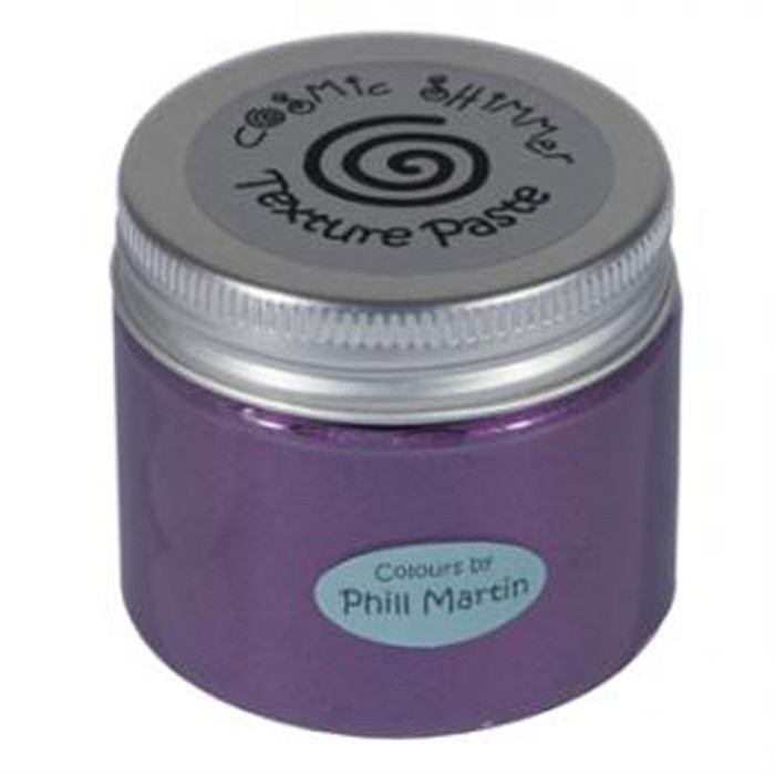 Cosmic Shimmer Phill Martin Texture Paste  50ml Pot - CHIC AUBERGINE