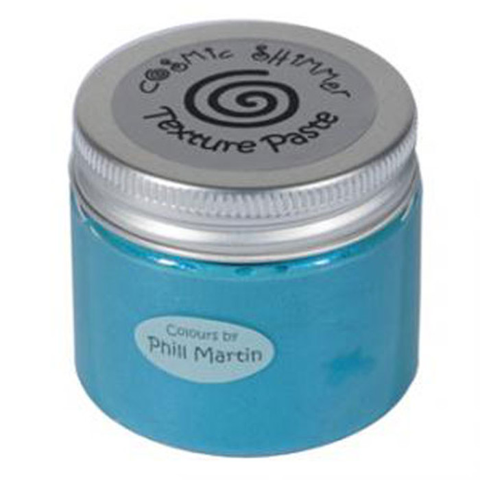 Cosmic Shimmer Pearl Texture Paste  50ml Pot - DECADENT TEAL