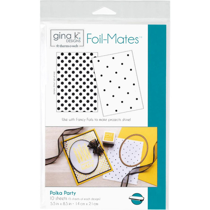 Gina K Designs Foil-Mates Background - Polka Party