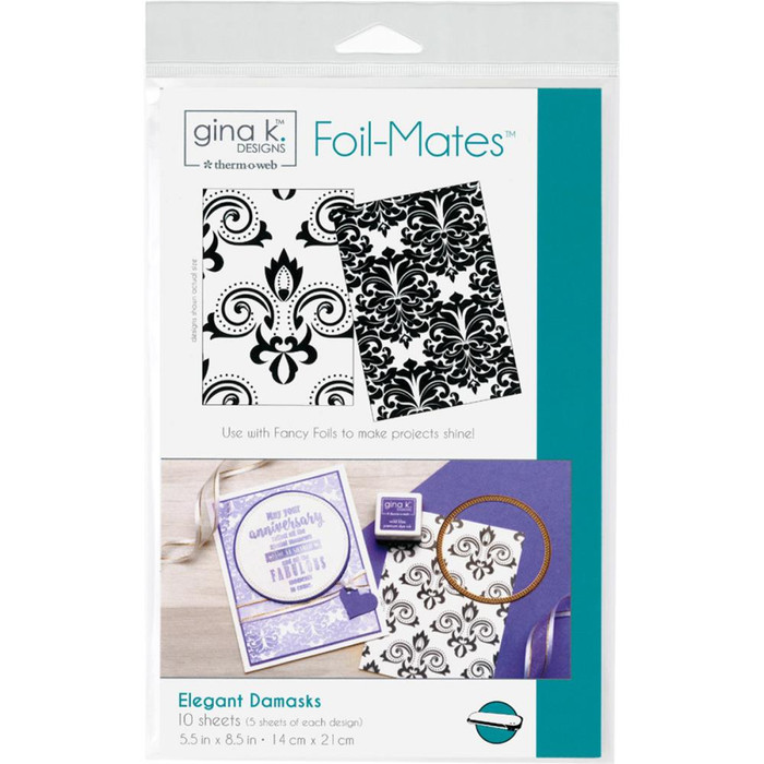 Gina K Designs Foil-Mates Background - Elegant Damasks