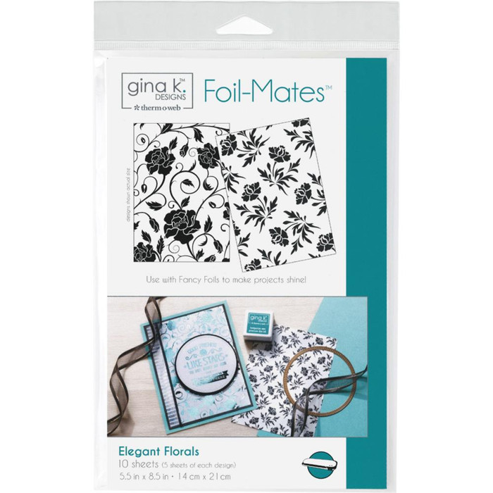 Gina K Designs Foil-Mates Background - Elegant Florals 10 Pk