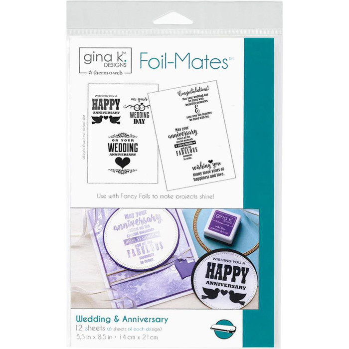 Gina K Designs Foil-Mates Sentiments - Wedding & Anniversary
