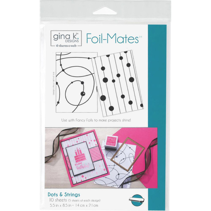 Gina K Designs Foil-Mates Background - Dots & Strings