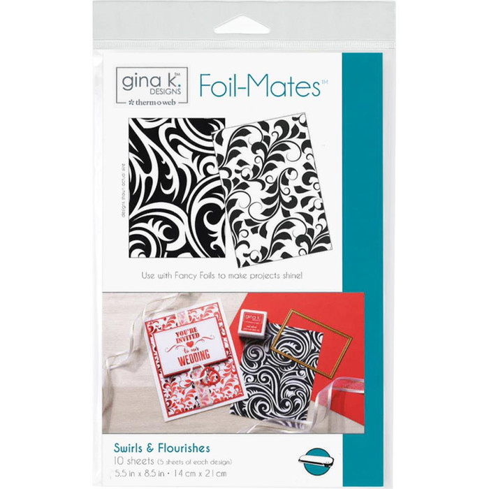 Gina K Designs Foil-Mates Background - Swirls & Flourishes